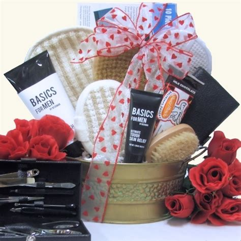 men s valentine gifts just for men spa basket gifts for guys dad gifts spa