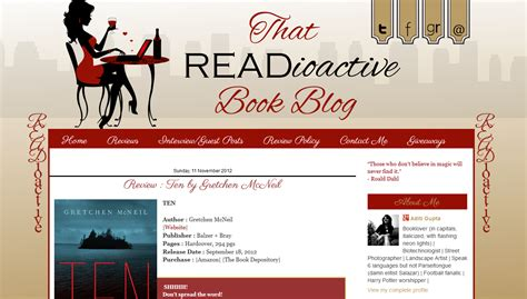 book layout blog custom blog design readioactive book blog bd web studio