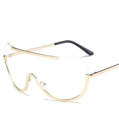 Big Frame Glasses the big frame glasses oversized alloy one