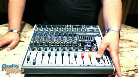 Mixer Behringer 1222 Usb behringer xenyx x1222usb mixer demo tutorial