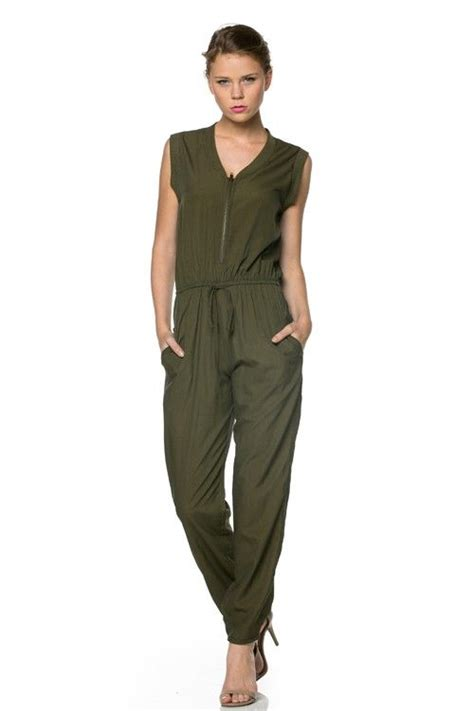 Jumpsuit Armi Army green jumpsuit olive green jumpsuit loveshoppingmiami how to wear