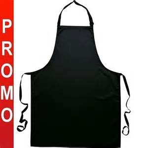 tablier de cuisine bavette noir 100 coton achat tabliers