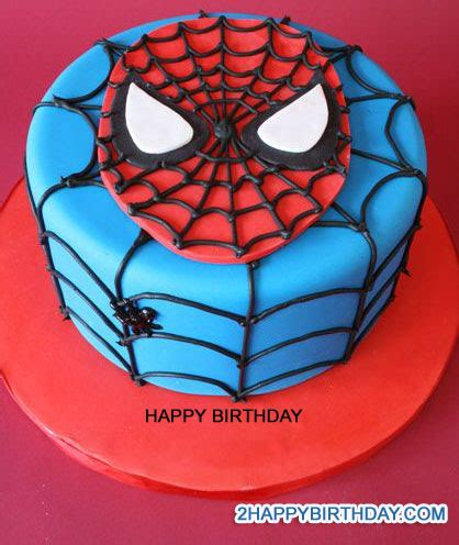 write name on spiderman themed birthday cake 2happybirthday