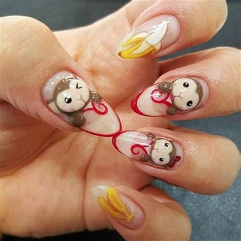 new year monkey nail year of the monkey nail nails magazine