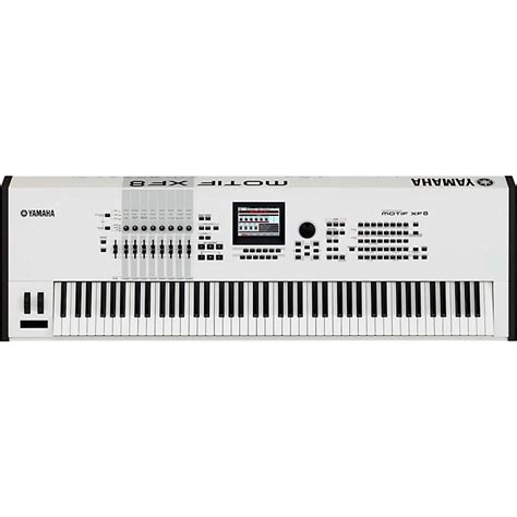 Keyboard Yamaha Motif Xf8 yamaha motif xf8 white 88 key workstation musician s friend