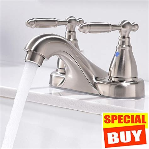 Bathroom Sink Faucets Reviews by Friho Commercial Two Handle Stainless Steel Lead Free