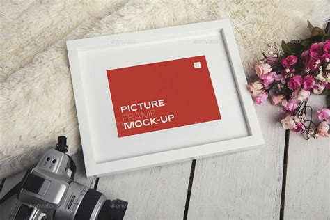 photo realistic picture frame mock   xepeec graphicriver