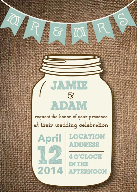 jar invitation template kitchen dining
