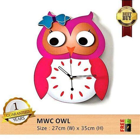 Barang Terlaris Mesin Jam Dinding Sweep Movement Tidak Berisik jam dinding mwc d owl spesifikasinya 1 mesin seiko quartz sweep movement yang artinya mesinnya