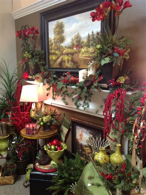 country christmas mantel decorating pinterest