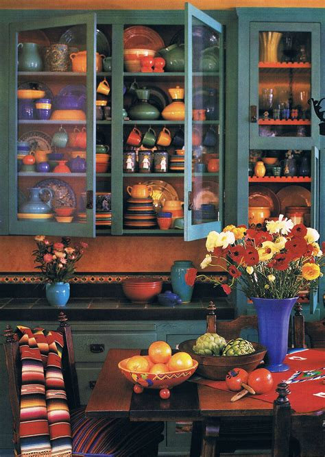 Mexican Kitchen Curtains Hacienda Style Mexican Interior Design Ideas