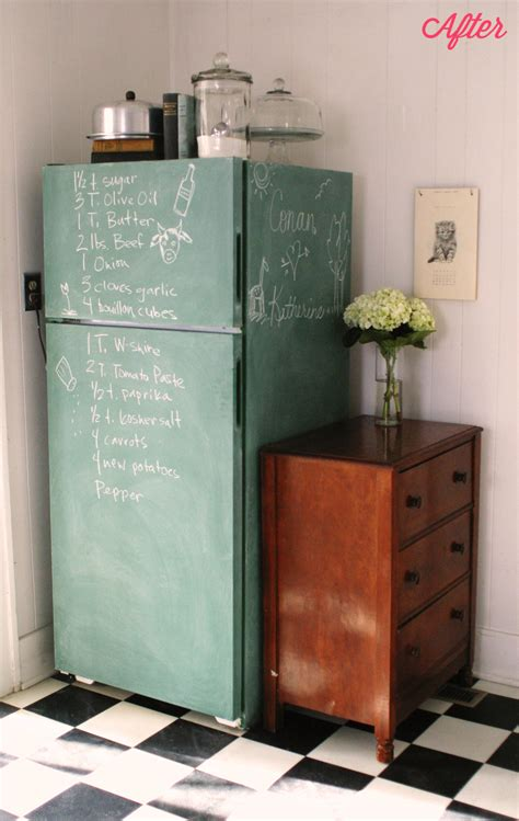 chalkboard painting refrigerator keep smiling chalkboard fridge kitchen ceiling progress