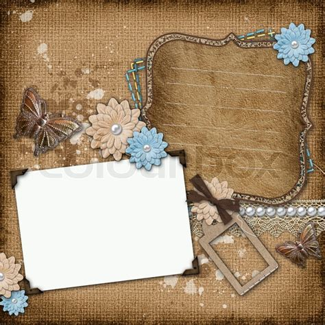 butterfly old vintage free ppt backgrounds for your vintage background with old frames stock photo colourbox