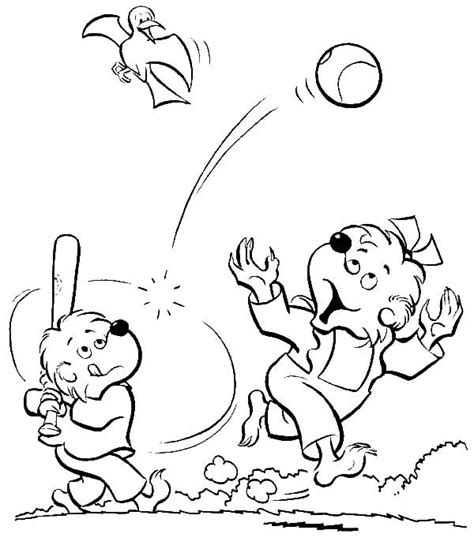 sister bear coloring page the berenstain bears coloring pages az coloring pages