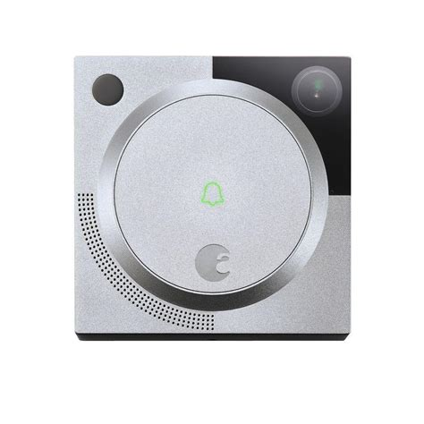 August Doorbell Silver august doorbell silver aug ab01 m01 s01 the home depot