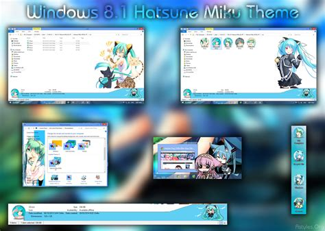 visual themes for windows 8 1 visual styles 8 theme anime win 8 8 1 hatsune miku by