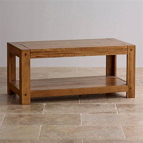 coffee table solid quercus coffee table in rustic solid oak oak furniture land