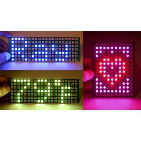 Led Matrix chainable color led matrix 5x7 ws2812
