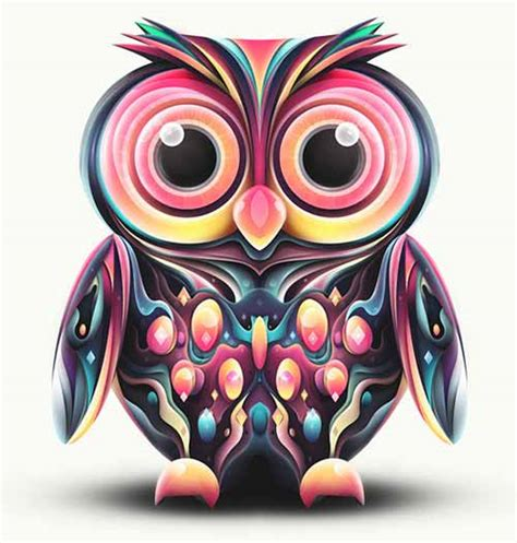 abstract owl wallpaper artworks made from abstract shapes by rik oostenbroek