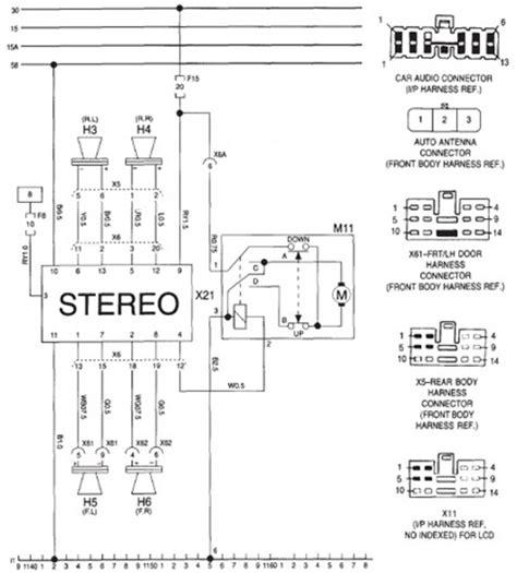 daewoo espero audio stereo wiring system