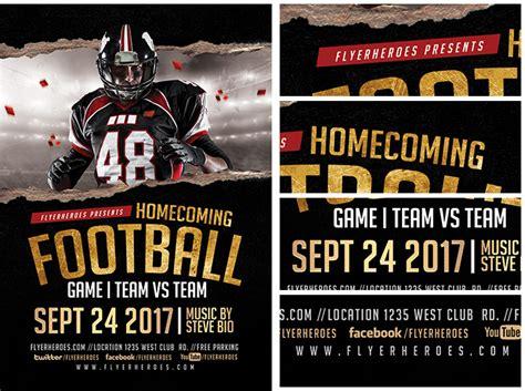 Homecoming Football 2017 Flyerheroes Homecoming Flyer Template