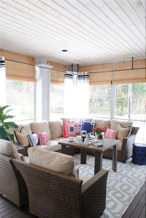 screened  porch decorating ideas   seasons