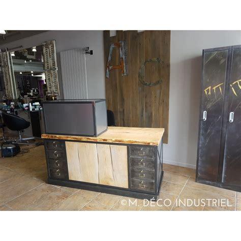meuble comptoir caisse comptoir de caisse style industriel m d 233 co industriel
