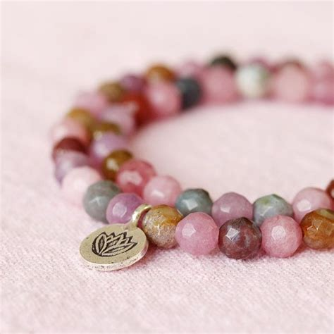 lilac pink jade agate wrap lotus hill by