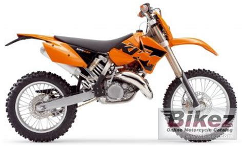 2005 ktm 125 exc specifications and pictures