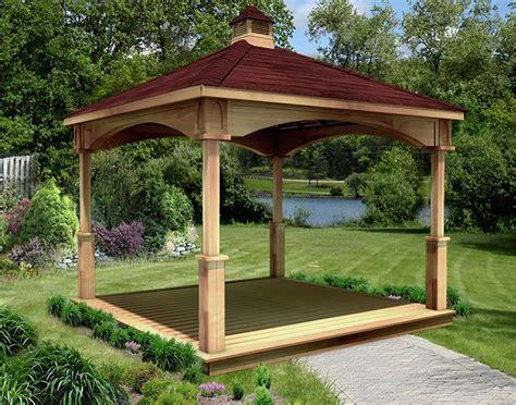 gazebo metal roof cedar single roof open rectangle gazebos with metal