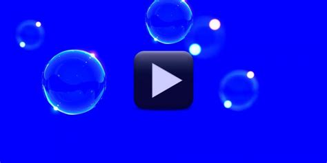bubbles animation video background blue screen video
