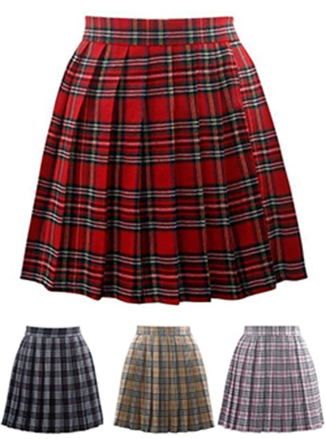plaid skirts cheap price