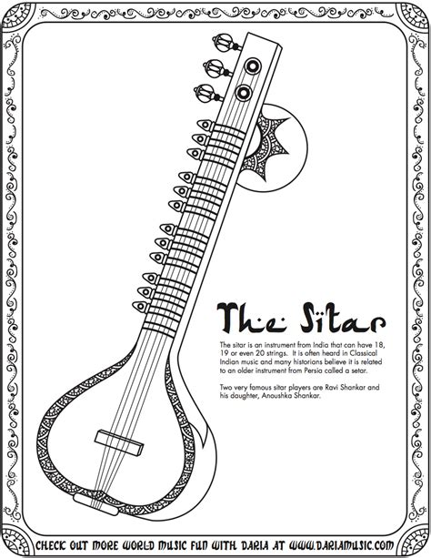 chinese instruments coloring pages color these world music instruments tiny tapping toes