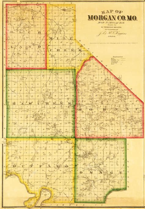 Indiana Property Ownership Records County Missouri 1880 Historical Map Reprint Townships