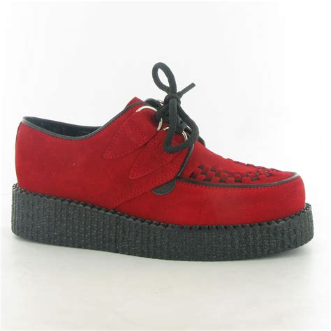 underground shoes underground shoes wulfrun roundtoe lace creepers in suede