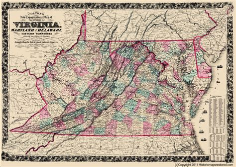 maryland delaware map civil war maps virginia maryland delaware de va md