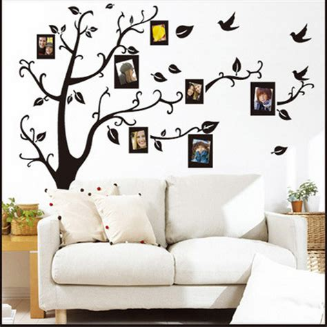 Home Decoration Stickers New 3d Diy Photo Tree Bird Pvc Wall Decal Family Sticker