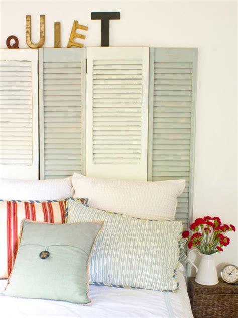cottage style shutters coastal cottage style shutter headboard hgtv