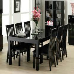Black Wood Dining Room Table Dining Room Inspiration Decorating Featuring Black Wooden New Black Wood Dining Room