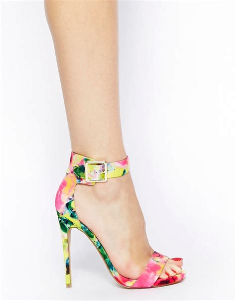 floral heeled sandals steve madden steve madden marlenee floral print heeled