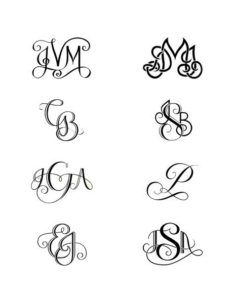 tattoo fonts for initials 25 best ideas about monogram on