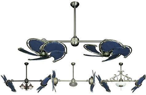 Dual Fan Ceiling Fans by 32 Inch Nautical Ceiling Fan With Blue Blades