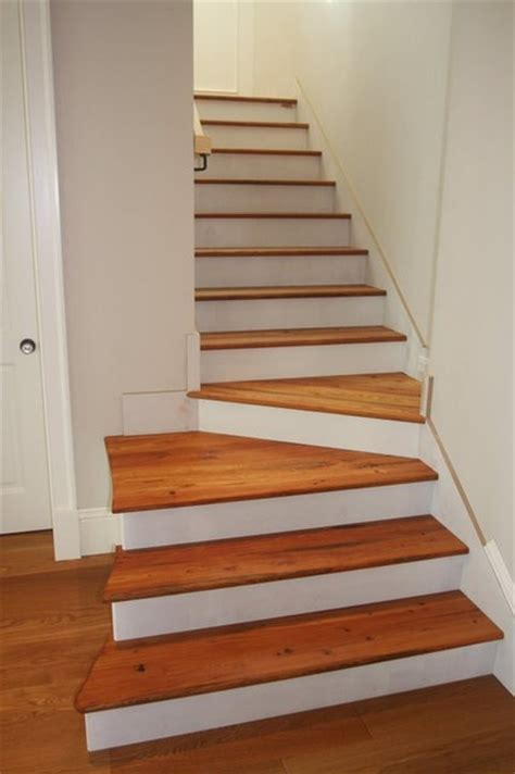 Hardwood Floor Stairs Wood Flooring Steps Interiors Design