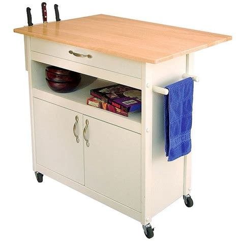 Kitchen Islands Carts White Kitchen Island Storage Cart Butcher Block