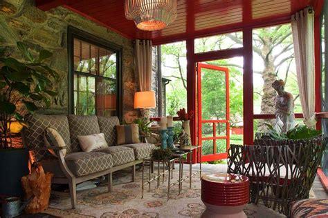 delightful  intimate  season screened porch ideas