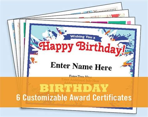 happy birthday certificate templates free 63 best framework images on certificate of