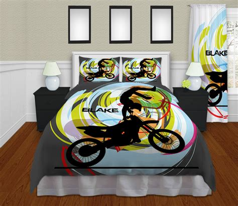 gray kids motocross bedding boys sports bedding dirt