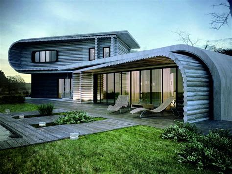 eco house unique house design wooden material eco friendly olpos design