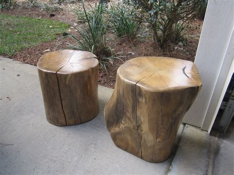 Wood Stump Table by Creations Reclaimed Wood Stump Tables Stools