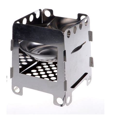 outdoor cooking cing folding wood stove pocket stainless steel besi kompor silver